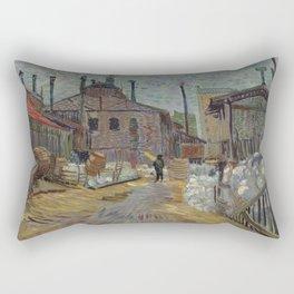 Vincent van Gogh - The Factory at Asnieres Rectangular Pillow