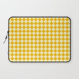 Cream Yellow and Amber Orange Diamonds Laptop Sleeve