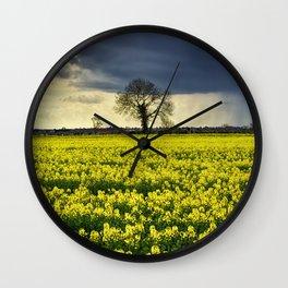 Winter Passing Wall Clock