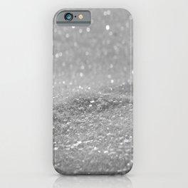 Glitter Silver iPhone Case