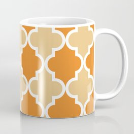 Quatrefoil - Orange and Tan Coffee Mug