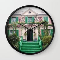 monet Wall Clocks featuring Monet House by Rachael Nicole