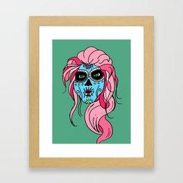 Pastel Sugar Skull Framed Art Print