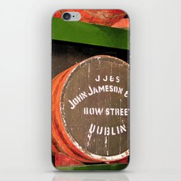 Jameson whiskey - Jameson Irish whiskey wooden barrel face photography iPhone Skin