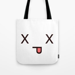#Dead Face Kawaii Emotion X_X Tote Bag