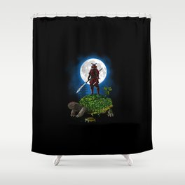 Samurai Turtle Shower Curtain