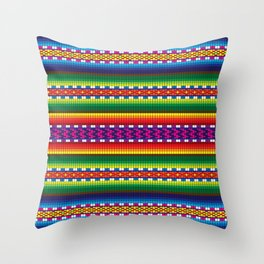 Colorful Woven South American Pattern Throw Pillow