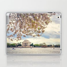 Jefferson Memorial and Cherry Blossoms Laptop & iPad Skin