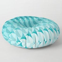 pattern leaves in the moonlight Floor Pillow