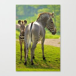 Mom and Son Canvas Print