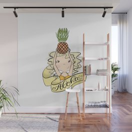 Aloha Girl With Pineapple Wall Mural