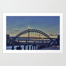 Quayside Sunset Art Print