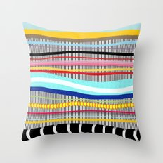 Bold stripes,breezy and beautiful,Striped Contemporary world's cute fashion Throw Pillow
