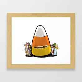 Candy Corn Monster Framed Art Print