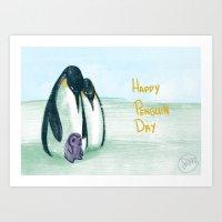 Penguin Day Art Print