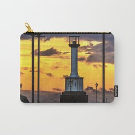 Maryport Lighthouse At Sunset Carry-All Pouch