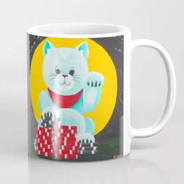 Lucky Poker Cat Coffee Mug