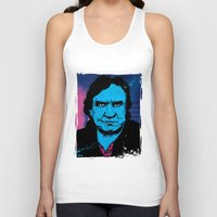 johnny cash Tank Tops featuring Johnny Cash by Todd Bane