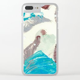Snowy Walk in the Woods 08 Clear iPhone Case