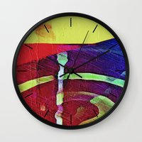 hook Wall Clocks featuring Hook Echo by David Lee