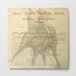 """Spring Racing 1890"" Metal Print"