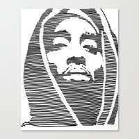 tupac Canvas Prints featuring Tupac  by Colin Douglas Gray