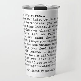 F. Scott Fitzgerald Travel Mug