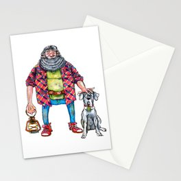 Gamekeeper and Keeper of Keys Stationery Cards
