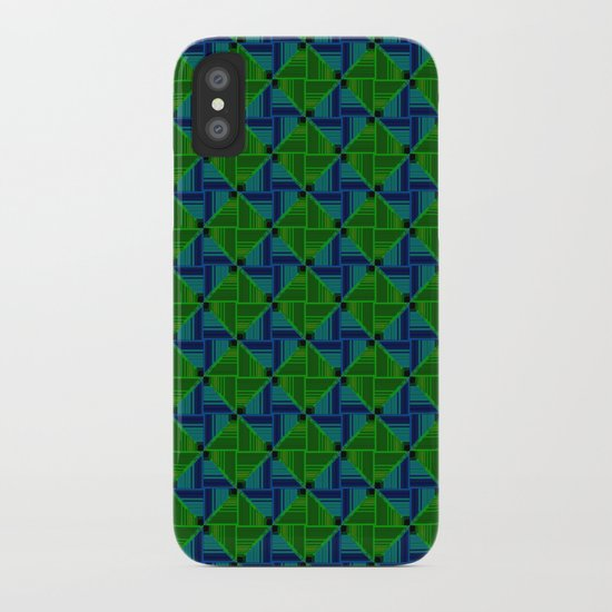 Green Parquet iPhone Case
