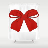 bow Shower Curtains featuring bow by  MuDi
