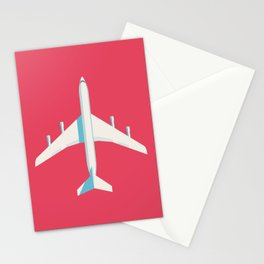 707 Passenger Jet Airliner Aircraft - Crimson Stationery Cards
