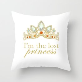 The Lost Princess Throw Pillow