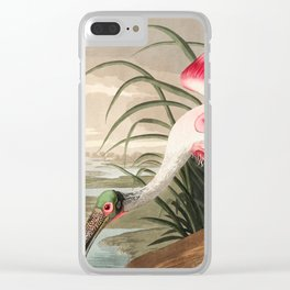 Tropical Exotic Fantasy Bird Landscape Clear iPhone Case