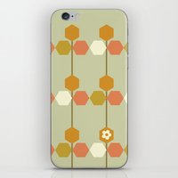hexagon iPhone & iPod Skins featuring Hexagon by clare nicolson