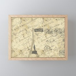Parisian French Script Framed Mini Art Print