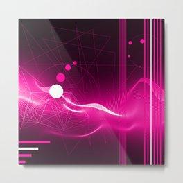 Modern Purple Metal Print