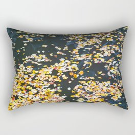 Silk Leaves Rectangular Pillow