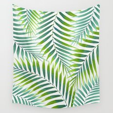 Palm leaves VI Wall Tapestry
