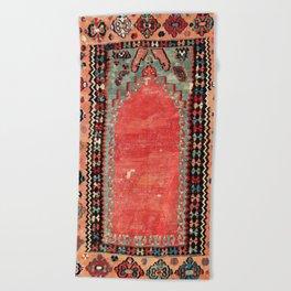 Sivas  Antique Cappadocian Turkish Niche Kilim Print Beach Towel