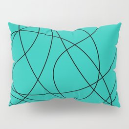 Lines Turquoise Pillow Sham