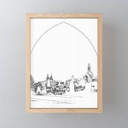 Charles bridge in Prague Framed Mini Art Print