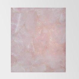 Rose Quartz Throw Blanket