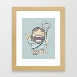 Jesus cartoon,illustration Framed Art Print