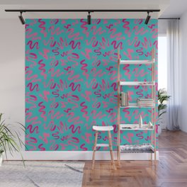 Squiggles Pattern Wall Mural