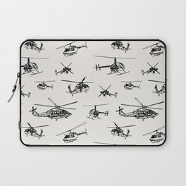Helicopters on Linen White Laptop Sleeve