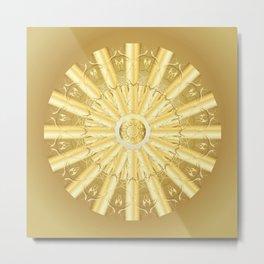 Angel Of Gold Mandala Metal Print