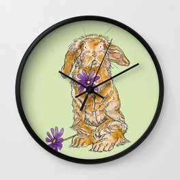 Bunny Rabbit Wall Clock