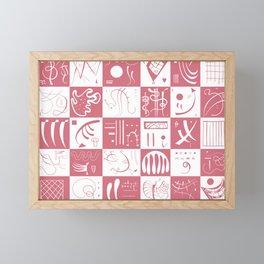 Kandinsky - White and Rose Pattern - Abstract Art Framed Mini Art Print