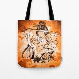 Samurai Woman Warrior, Gift to Martial Arts Girls Tote Bag