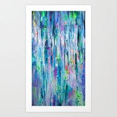 Silver Rain Art Print